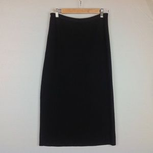 Eileen Fisher Skirt Womens XS Silk Pencil Black